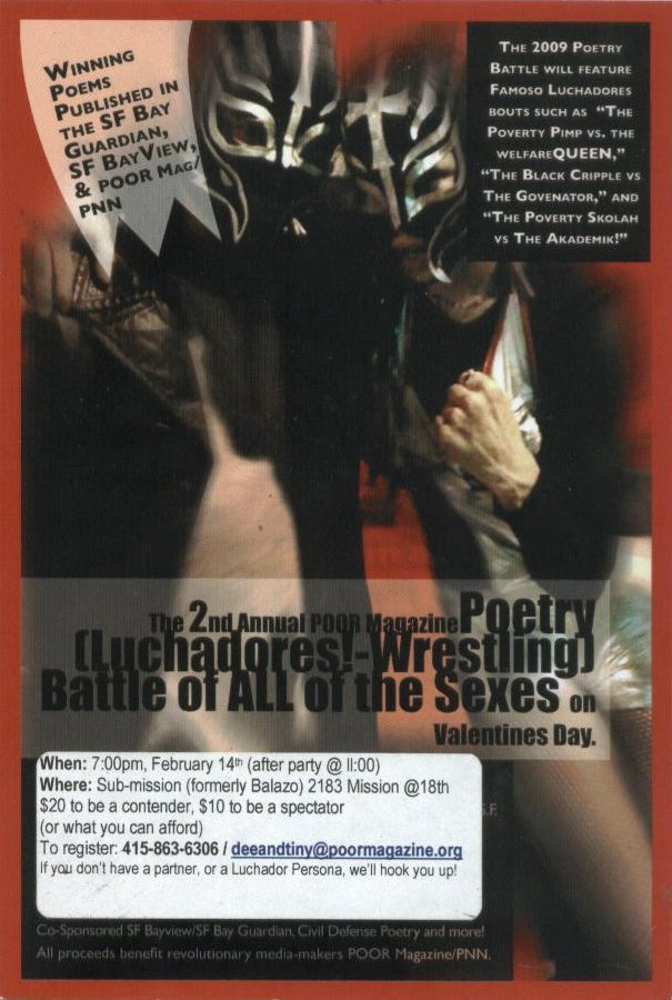 The 2009 Poetry Luchador/Wrestling Battle of ALL of the Sexes on Valentines Day